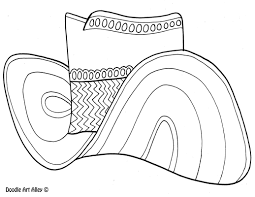 cowboy hat coloring pages youtuf com
