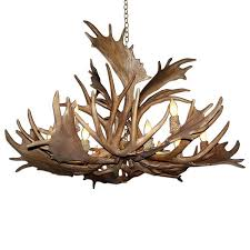 Antler Chandelier Canada Shop Canadian Antler Design Mule Deer 52 In 12 Light Brown