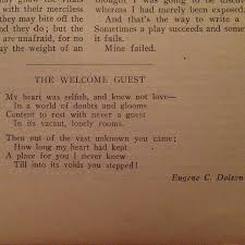poem the welcome guest the show the random