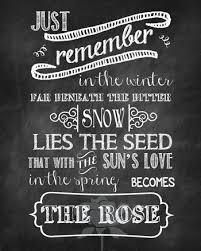 printable lyrics the rose song lyrics free printable tidbits