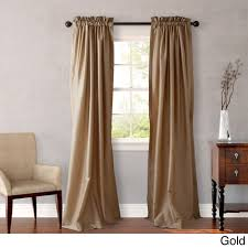 108 In Blackout Curtains by Heritage Landing Faux Silk 96 Inch Drapes Are Available In 5