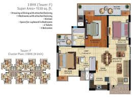 3 bhk apartment floor plan ace city regrob