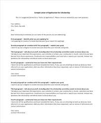 cover letter scholarship application scholarship application