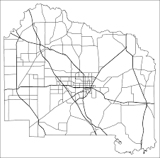 Driving Map Of Florida by Alachua County Road Network Black And White 2009