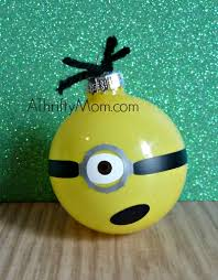 diy ornament minion made with nail