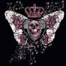 skull butterfly metallic shirts evil t shirts