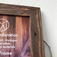Salvaged Wood by 8x10 Picture Frame Reclaimed Wood Frame 8x10 Photo Frame