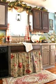 Christmas Kitchen Curtains by French Country Kitchen Makeover Interior Design Ideas And Decor