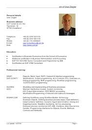 formal resume template stibera resumes