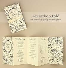 Wedding Program Templates Free Download Diy Accordion Wedding Program