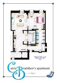 seinfeld apartment floor plan carrie bradshaw style apartment bedroom inspired floor plans of