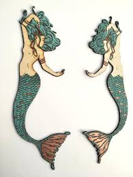 wall decor outstanding mermaid wall decor wood pictures wall