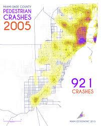 Mdc Map Pedestrian Crashes In Miami Dade County 2005 2013 Miami Geographic