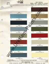 1968 pontiac gto car paint colors urekem paints