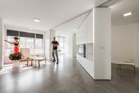 Laminate Flooring On The Wall Moving Walls Create New Rooms In This Apartment Mental Floss