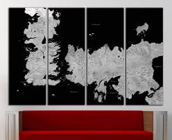 Vintage World Map Canvas by Game Of Thrones Old World Map Canvas Print Vintage Game Of