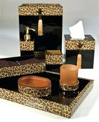 Animal Print Bathroom Ideas Animal Bathroom Accessories Attractive Leopard Print Wallpaper In