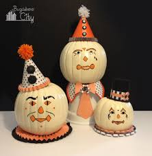 Home Decoration With Paper Diy Vintage Clown Pumpkins Decorating With Paper And Paint Idolza