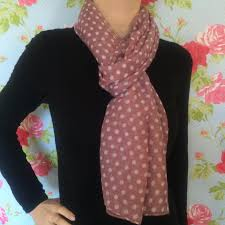 pink polka dot scarf always and forever home