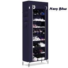 amazon com homdox 10 tiers shoe rack with cover closet shoe