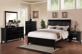 espresso faux leather queen bed by poundex f9288q huntington
