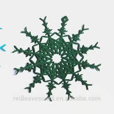 laser cut snow flower paper ornament handmade 3d paper