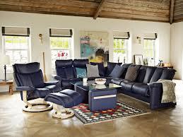 stressless legend sofa in paloma leather color indigo and magic