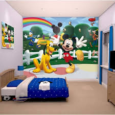 fresque murale chambre papier peint enfant mickey sticker géant fresque murale décorative