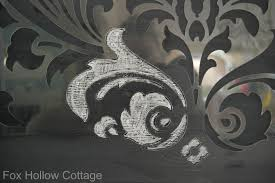 kitchen stencils designs how to stencil with chalk tips to get it right fox hollow cottage