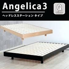 base bed frame queen angelica 3 headless station slatted bed base