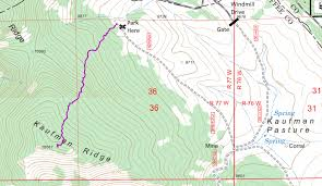 Colorado 14er Map by