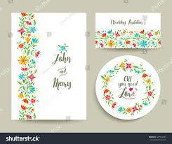 Wedding Cards Invitation Templates Beautiful Floral Wedding Card Invitation Template Stock