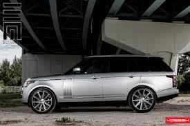 silver range rover black rims vossen wheels land rover range rover vossen cv4
