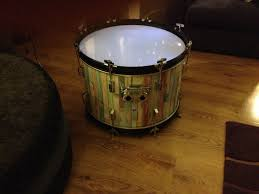 Drum Lights Upcycled Bass Drum Coffee Table With Led Lights Inside Cool