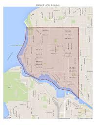 Discovery Park Seattle Map by Ballard Little League Boundaries Map Jpg