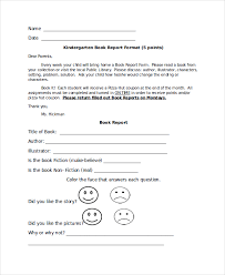 book report format 8 free word pdf documents download free