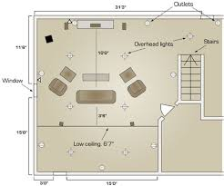 home theater room floor plans take a look at a floor plan