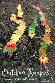 how to make an adorable snake craft with fall leaves snake