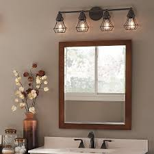 Lowes Light Fixtures Bathroom Master Bath Kichler Lighting 4 Light Bayley Olde Bronze Bathroom