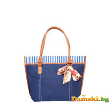 koketna bg кокетна плажна чанта с шалче синя damski bg