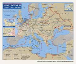 Ww2 Map Ww2 European Theater Map Image Gallery Hcpr