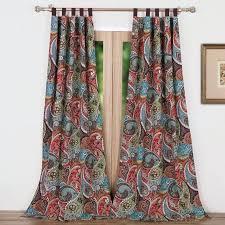 Tab Top Curtains Walmart Paisley Curtains Paisley Sheer Tab Top Curtain Panels Paisley