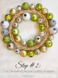 how to make an easy diy ornament wreath simplemost