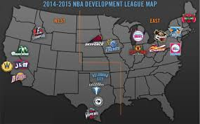 Nba Map The Nba D League By Langston Wilson