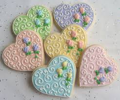 decorated cookies heart decorated cookie favors wedding by lorisplace