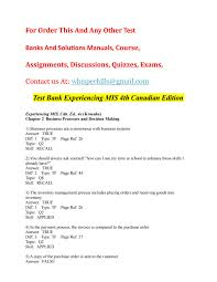 test bank experiencing mis 4th canadian edition by sourcandy issuu