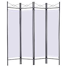 Gold Room Divider by Costway White 4 Panel Room Divider Privacy Screen Home Office