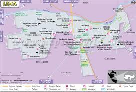 lima map lima map map of lima city peru