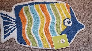 Fish Bath Rug Circo Fish Collection Bath Rug Wavy Stripe Nwt Kids Girls Boys