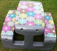 fisher price childrens picnic table caroline s crafty corner redone plastic table and chairs for the